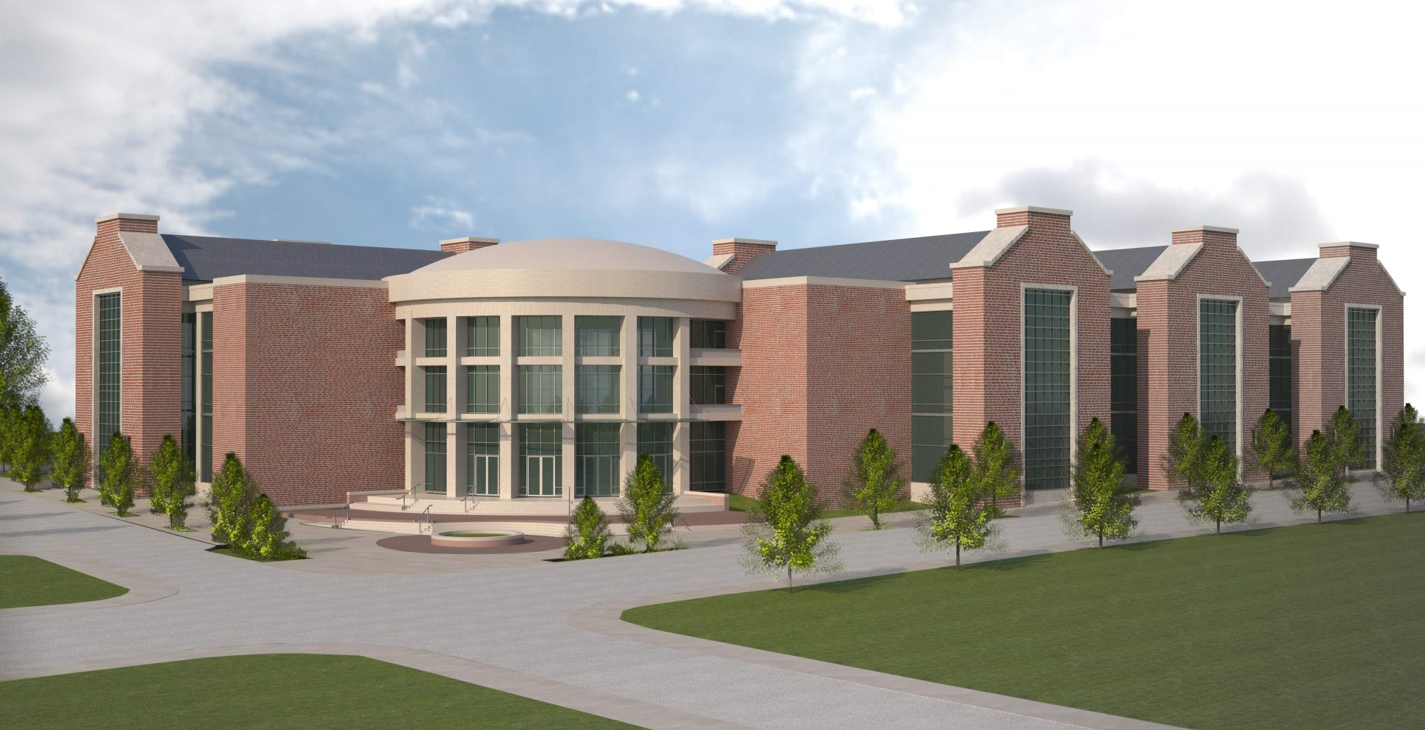 Artist rendering of the new Integrated Engineering and Science Building