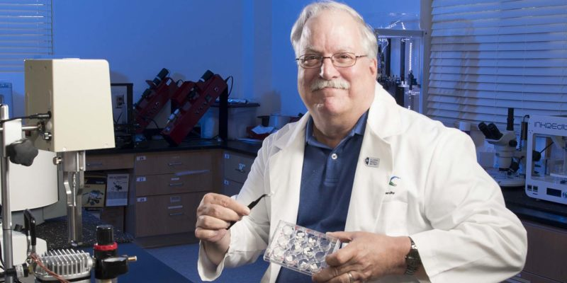 Dr. David Mills in his lab.