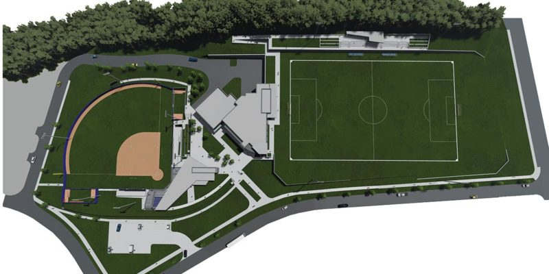 Softball and soccer site plan.