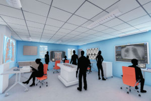 Architect rendering of the virtual anatomy lab