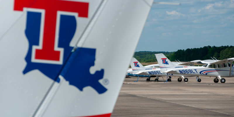 Louisiana Tech planes at Ruston Regional Airport.