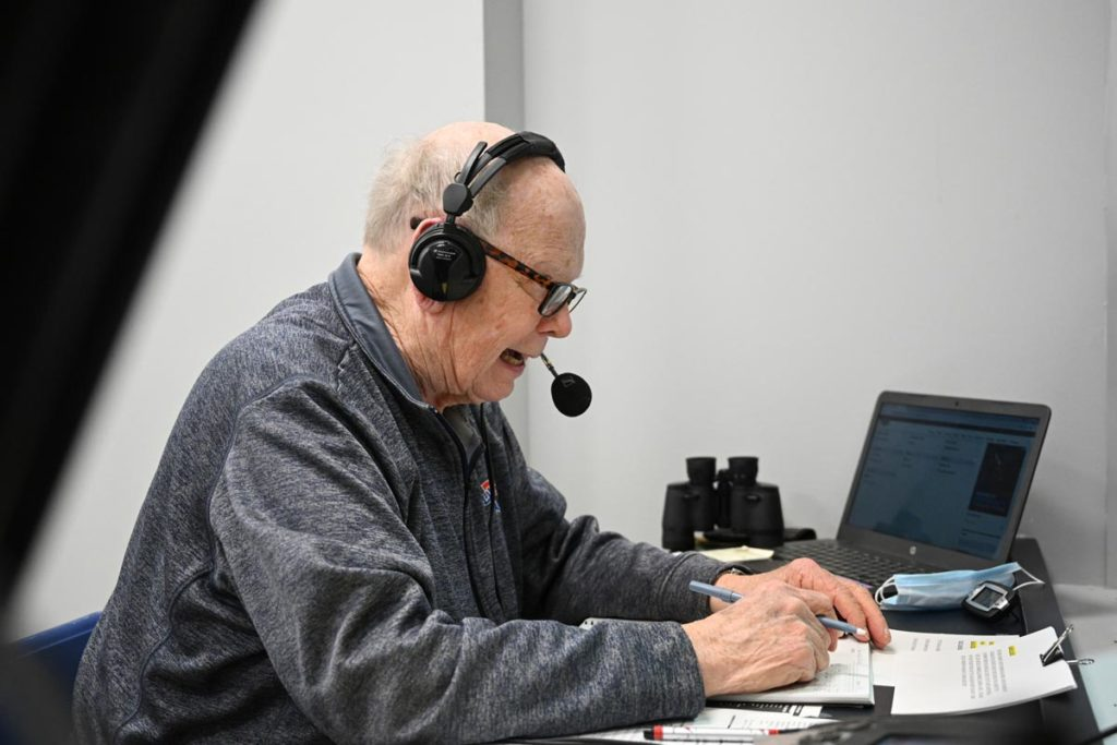 Dave Nitz calls another Tech baseball game.